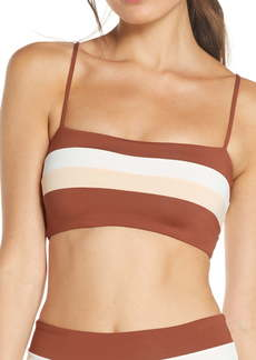 L*Space L Space Rebel Stripe Bikini Top