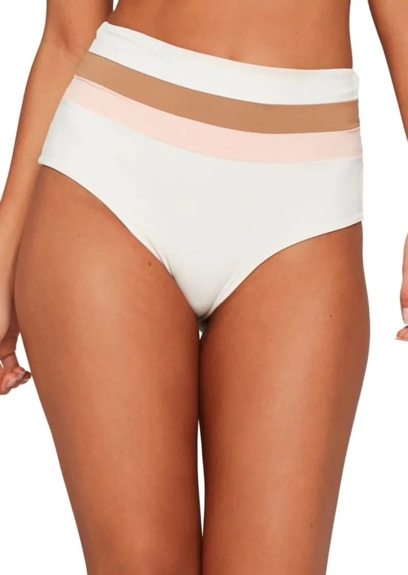 L*Space Crossroad Texture Portia Striped Bikini Bottom