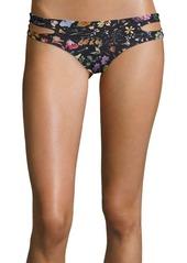 L*Space Estella Strappy Floral Bikini Bottoms