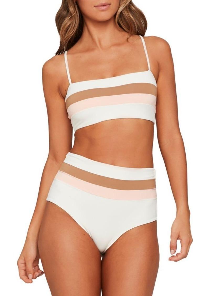 L*Space Rebel Striped Bikini Top