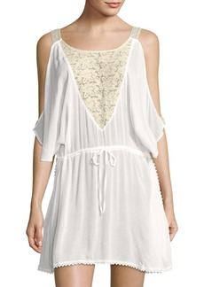 L*Space Riptide Scoopneck Caftan-Sleeve Cover-Up