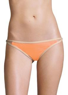 L*Space Titanium Contrast-Trimmed Bikini Bottom