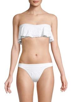 L*Space Lynn Lace Eyelet Bandeau Bikini Top