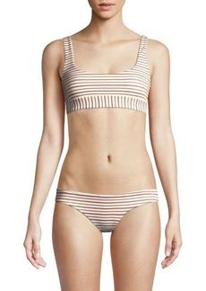 L*Space Miller Metallic Striped Bikini Top