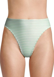 L*Space Pierre High-Waist Ribbed Bikini Bottom