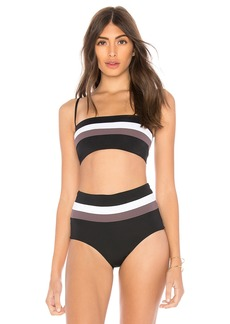 L*Space Rebel Stripe Bikini Top