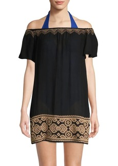 L*Space Textured Off-The-Shoulder Cover-Up