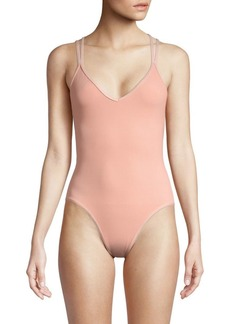 L*Space V-Neck One-Piece Swimsuit