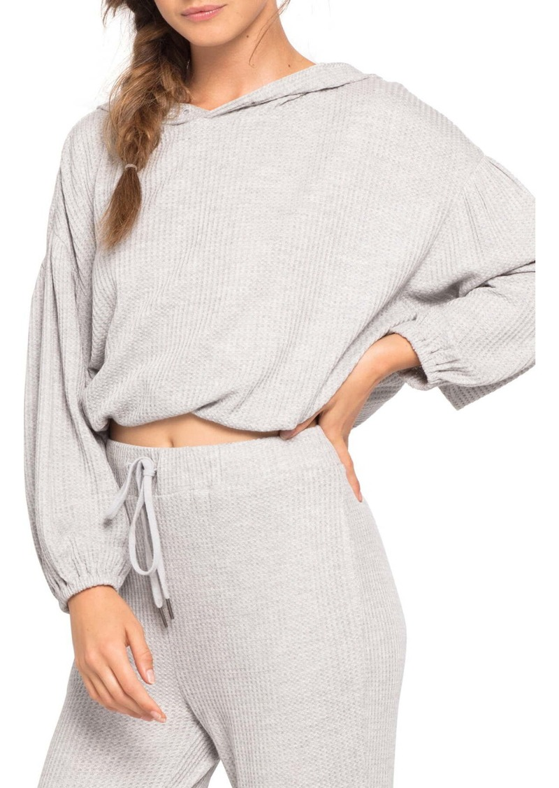 L*Space Venice Beach Cropped Cover-Up Hoodie