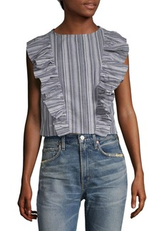 Lucca Couture Alexandra Stripe Cropped Top