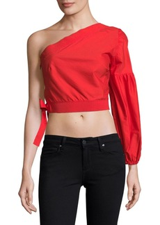 Lucca Couture Asymmetrical Cotton Top