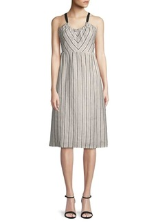 Lucca Couture Daphne Linen Midi Dress