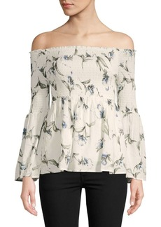 Lucca Couture Eden Floral Off-The-Shoulder Top