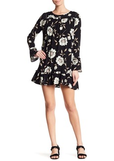 Lucca Couture Gemma Floral Ruffle Sleeve Dress