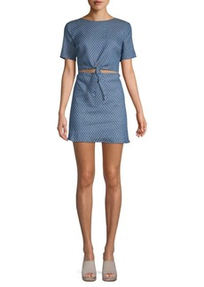 Lucca Couture Kennedi Front-Tie Dress