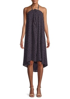 Lucca Couture Lila Dotted Halter Dress