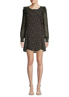Lucca Couture Lilliana Floral-Print Ruffle Shift Dress