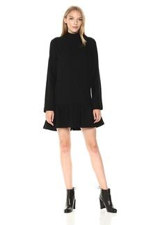 Lucca Couture Women's Addison Mock-Nk Drop Waist Dress