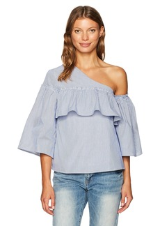 Lucca Couture Women's Adeline One Shoulder Ruffle Top