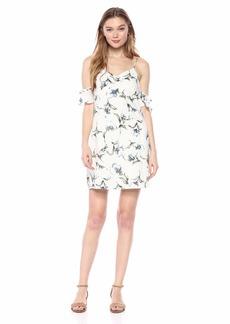 Lucca Couture Women's Amy Cold Shoulder Mini Dress w/Ruche