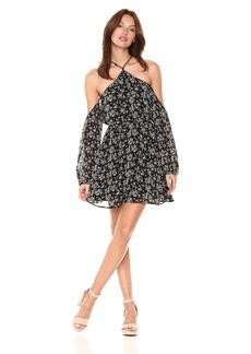 Lucca Couture Women's Baxter Cold Shoulder Floral Print Dress