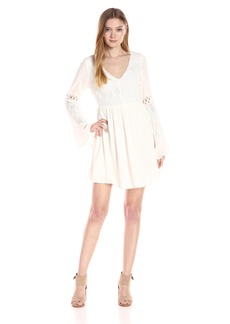 Lucca Couture Women's Bell Sleeve with Round Hem Dress