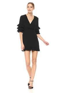 Lucca Couture Women's Camille Surplice Front Ruffle Tier SLV Dress