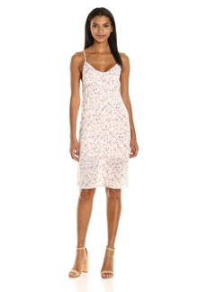 Lucca Couture Women's Floral Print Button Front Midi Slip Dress