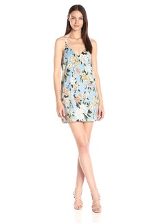 Lucca Couture Women's Floral Print V-Neck Cami Shift Dress