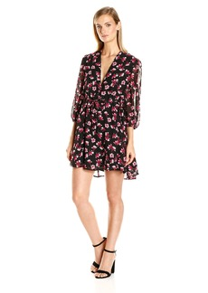 Lucca Couture Women's Freya Printed Long Sleeve Dress
