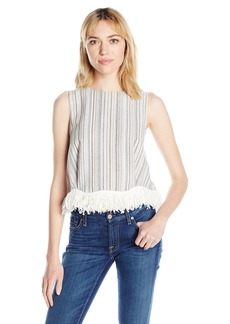 Lucca Couture Women's Fringe Shell Tank