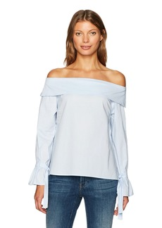 Lucca Couture Women's Grace Off The Shoulder Tie Sleeve Top