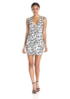 Lucca Couture Women's Hardwoven High Waist Floral Dress