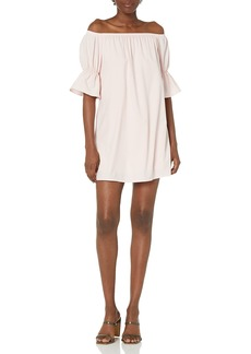 Lucca Couture Women's Katherine Off The Shoulder Mini Bell Sleeve Dress