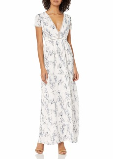 Lucca Couture Women's Ladder Trim Tiered Maxi Dress
