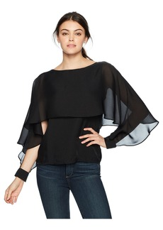 Lucca Couture Women's Madelyn Flutter Cape Organza to
