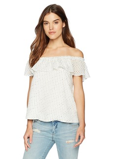 Lucca Couture Women's Melody Ruffle Overlay OTS Top