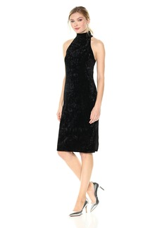 Lucca Couture Women's Mila Mock Neck Crush Velvet Dress