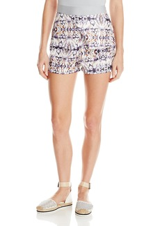 Lucca Couture Women's Mixed Kaleidoscope Printed Shorts