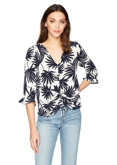 Lucca Couture Women's Morgan Tunnel Tie Top