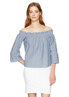 Lucca Couture Women's Off Shoulder 3/4 Sleeve Top