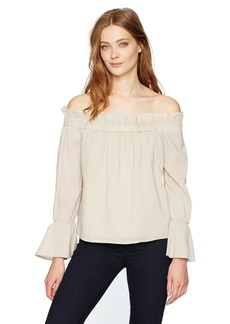 Lucca Couture Women's Off Shoulder Long Sleeve Top