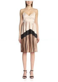 Lucca Couture Women's Pleated Dress with Chevron Stripe  XS