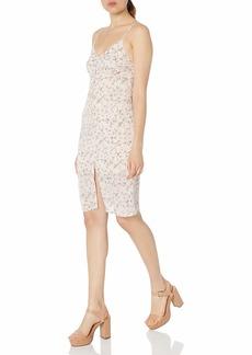 Lucca Couture Women's Print Button Front Midi Slip Dress
