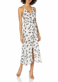 Lucca Couture Women's Print Sleeveless Midi Wrap Dress