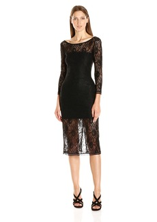 Lucca Couture Women's Reese Lace Midi Dress Black