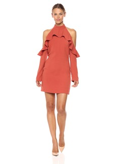 Lucca Couture Women's Robin Ruffle Cold Shoulder Long Sleeve Dress