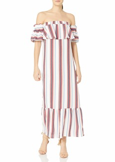 Lucca Couture Women's Strapless Ruffle Maxi Dress