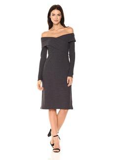 Lucca Couture Women's Valentina Off The Shoulder Rib Midi Dress