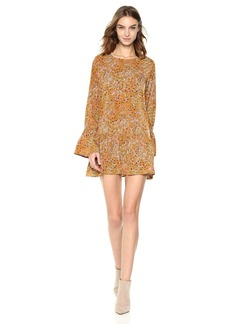 Lucca Couture Women's Violet Bell Sleeve Floral Print Dress